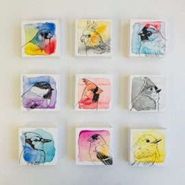 Mini Birdtober Series by Andrea Holmes