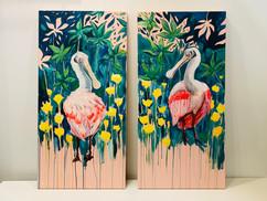Spoonbills by Andrea Holmes