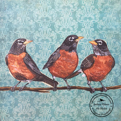Family of Robins  by Andrea Holmes