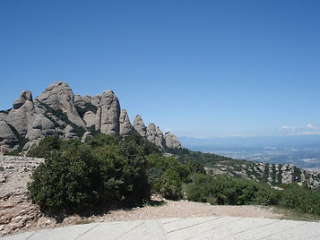 Snowy peaks viewed from Montserrat