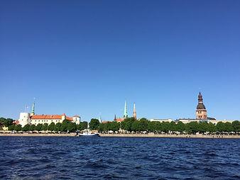 Riga Old Town Skyline