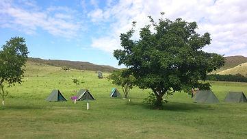 Camping at the estancia