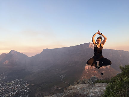 Jumping at the Table Mountain