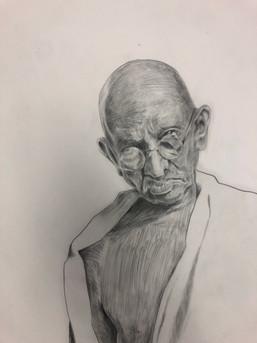 Gandhi (detail)