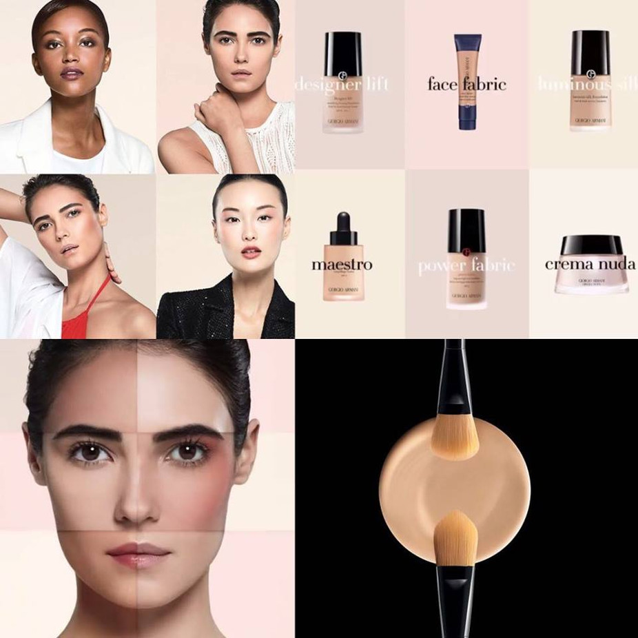 ARMANI | 'FACE GUIDE'. TODO PARTE DE UNA BASE.