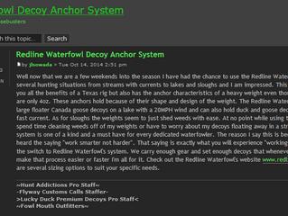 Redline Waterfowl Decoy Anchor System - Hunt Addictions
