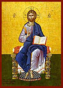 CHRIST BLESSING, ENTHRONED
