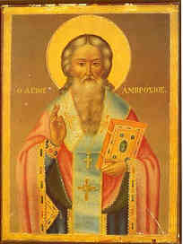 SAINT AMBROSE, BISHOP OF MILAN