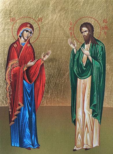 ΠΑΝΑΓΙΑ ΚΑΙ ΑΓΙΟΣ ΙΩΑΝΝΗΣ Ο ΠΡΟΔΡΟΜΟΣ, ΕΚ ΤΗΣ ΔΕΗΣΕΩΣ, ΟΛΟΣΩΜΟΙ
