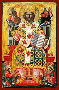 CHRIST BLESSING, KING OF KINGS, MASTER OF MASTERS AND GREAT HIGH PRIEST, ENTHRONED