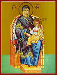 VIRGIN AND CHILD, ENTHRONED