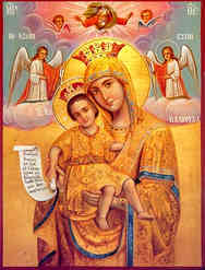 VIRGIN AND CHILD, MERCIFUL, AXION ESTI (IT IS TRULY MEET)