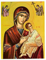 VIRGIN AND CHILD, IMMACULATE (BYZANTINE)