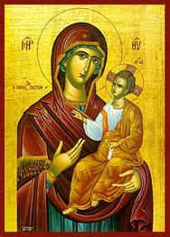 VIRGIN AND CHILD, HODEGETRIA, HOPE OF BELIEVERS