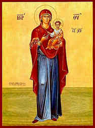 VIRGIN AND CHILD, HODEGETRIA, FULL BODY