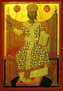 CHRIST BLESSING, KΙΝG OF KINGS AND GREAT HIGH PRIEST, ENTHRONED