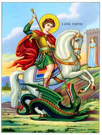 SAINT GEORGE THE GREAT MARTYR, ON HORSEBACK