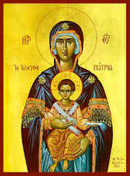 VIRGIN AND CHILD, ELEUTHEROTRIA