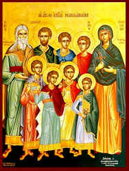 HOLY SEVEN MACCABEES MARTYRS, ABIMUS, ANTONIUS, GURIAS, ELEAZAR, EUSEBONUS, ALIMUS, AND MARCELLUS, SAINT ELEAZAR THEIR INSTRUCTOR, SAINT SOLOMONIA THEIR MOTHER