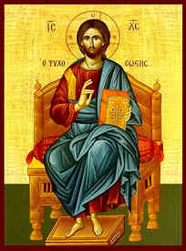 CHRIST BLESSING, SAVIOUR OF SOULS, ENTHRONED