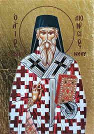 SAINT DIONYSIUS OF ZANTE, GREECE, BISHOP OF AEGINA