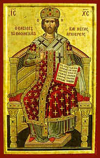 CHRIST BLESSING, KING OF KINGS AND GREAT HIGH PRIEST, ENTHRONED