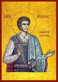 SAINT AGELES, NEW MARTYR OF RETHYMNON, CRETE, GREECE