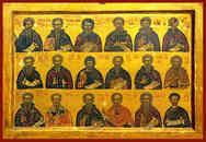 HOLY HERMITS, SAINTS THEODOSIUS THE CENOBIARCH, EUTHYMIUS, ANTONY, SABBAS, ARSENIUS, MAXIMUS, CHARITON, ATHANASIUS OF ATHOS, EPHRAIM THE SYRIAN, NILE, ILARION, PAUL OF THEBES HERMIT OF EGYPT, SAINTS JOHN (CLIMACUS), PAUL ARCHBISHOP OF CONSTANTINOPLE, IOANNIKIOS, THEODORE STOUDITES, DAVID OF SALONIKA AND ACACIUS.