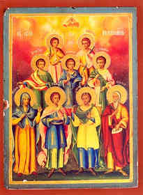HOLY SEVEN MACCABEES MARTYRS: ABIMUS, ANTONIUS, GURIAS, ELEAZAR, EUSEBONUS, ALIMUS AND MARCELLUS, SAINT ELEAZAR THEIR INSTRUCTOR, SAINT SOLOMONIA THEIR MOTHER