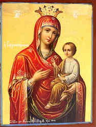 VIRGIN AND CHILD, HODEGETRIA, GORGOYPEKOOS \'THE QUICK HEARER OF MT. ATHOS