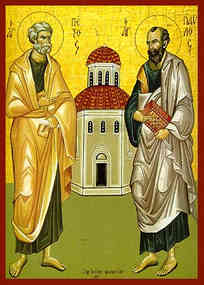 HOLY APOSTLES PETER AND PAUL, FULL BODY