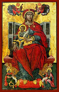 VIRGIN AND CHILD, ENTHRONED, HIGHER THAN THE HEAVENS
