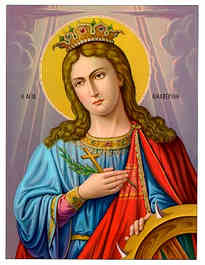SAINT CATHERINE, THE GREAT MARTYR, OF ALEXANDRIA