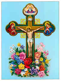 CHRIST CRUCIFIED, WITH FLOWERS