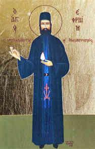 SAINT EPHRAIM, THE NEW MONK-MARTYR OF MOUNT AMOMON, GREECE, FULL BODY