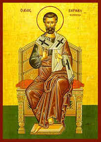 SAINT BARNABAS THE APOSTLE, ENTHRONED