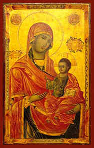 VIRGIN AND CHILD, HODEGETRIA, MERCIFUL