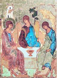 HOLY TRINITY (THREE ANGELS, FROM THE HOSPITALITY OF ABRAHAM)