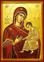 VIRGIN AND CHILD, HODEGETRIA, FULL OF GRACE