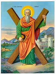 SAINT ANDREW THE APOSTLE, THE FIRST-CALLED, FULL BODY