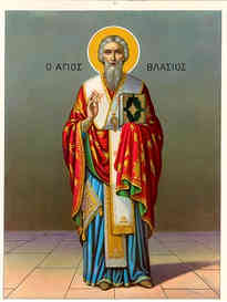 SAINT BLAISE, HIEROMARTYR, BISHOP OF SEBASTE, FULL BODY