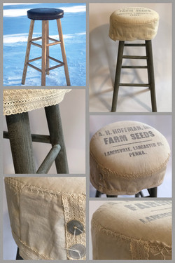 seed bag tall stool