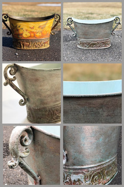metal decorative urn