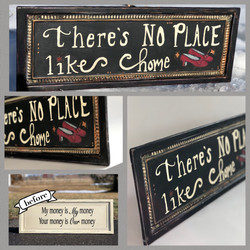 metal hand painted sign