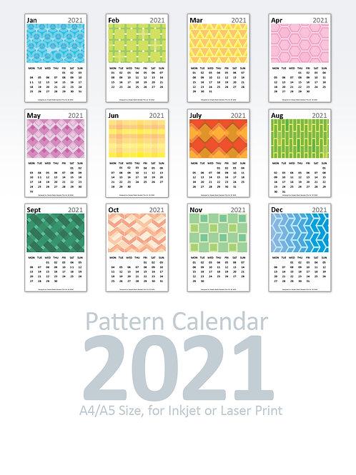 DIY Printing - 2021 Pattern-Based Calendar Artwork (A4/A5 Size)