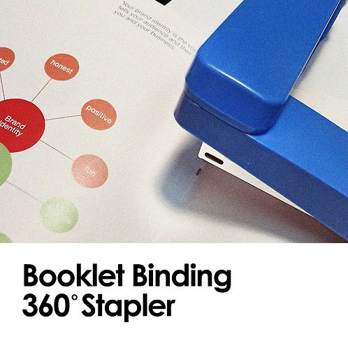 DIY Booklet Binding (Saddle-Stitch) 360 Degree Rotatable Stapler