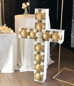 Gold and white cross mosaic