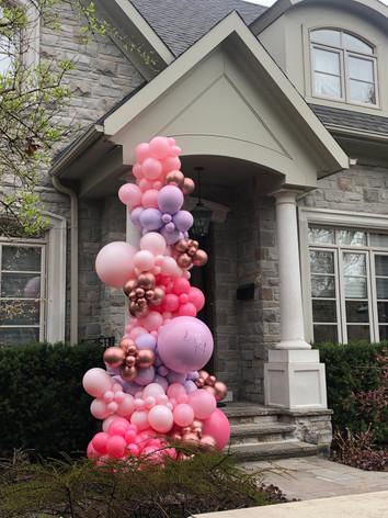 pink luxury garland