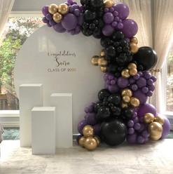 purple luxury balloons