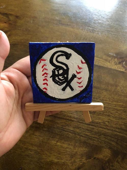 Original White Sox Mini Painting